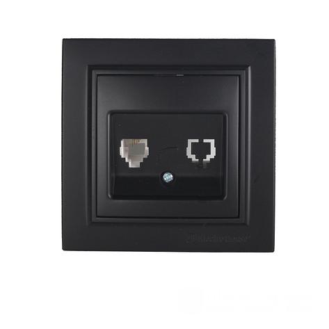 ElectroHouse Розетка компьютерная  Безупречный графит Enzo 1x8P8C IP22, фото 2