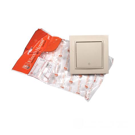ElectroHouse Выключатель проходной латте Enzo IP22, фото 2