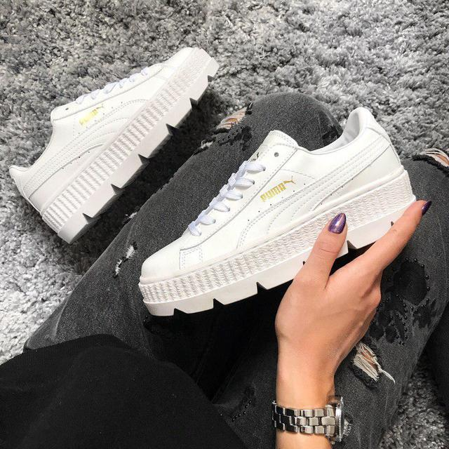 best website 059ca b8feb Кроссовки женские Puma x Fenty Cleated Creeper Leather White