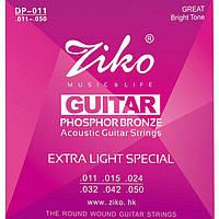 Струны акустической гитары фосфорная бронза (11-50) ZIKO DP-011
