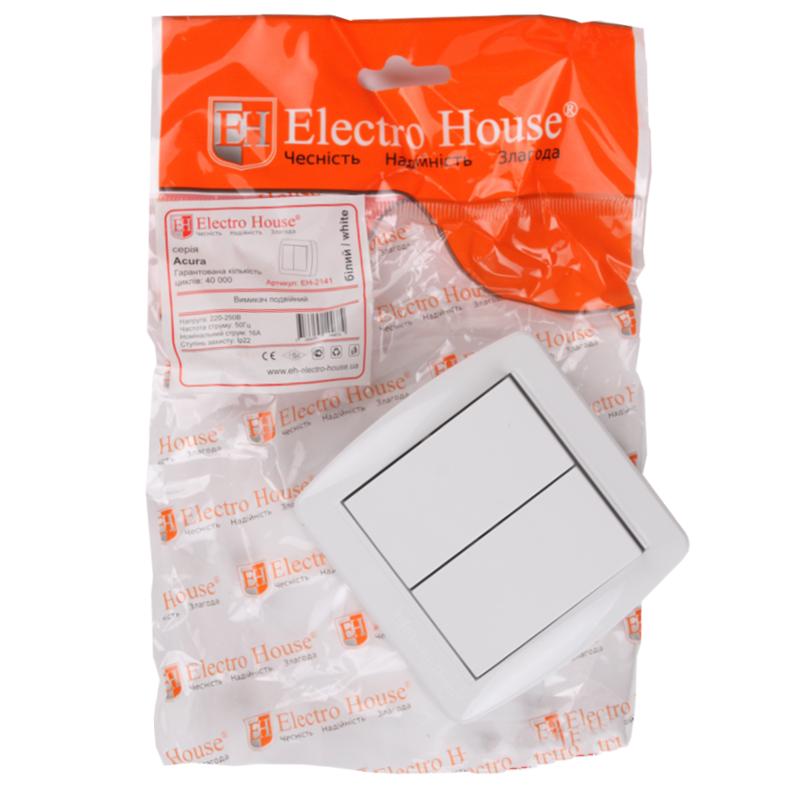 ElectroHouse Выключатель двойной Acura IP22