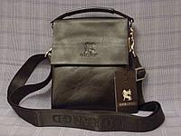 Мужская сумка Gorangd 886-3 черная искусственная кожа, фото 1