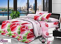 Семейный комплект постельного белья Zastelli 0768 Фестиваль тюльпанов микросатин
