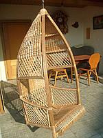 подвесное кресло-качалка из лозы