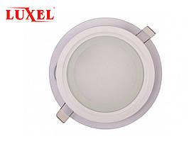 Светодиодный встраиваемый светильник круглый со стеклянным декором 6W