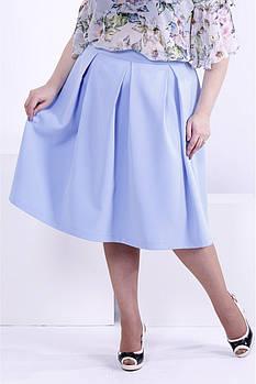 Женская пышная юбка 0881 / размер 48-72 / цвет голубой