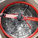 Медогонка 4-х рамочная РКС из нержавеющей стали. С крышкой и подставкой, фото 4