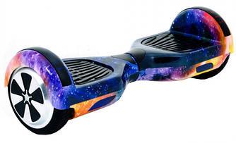 """Гироборд Smart Way 6.5""""  (Приложение к телефону, Led, Bluetooth, сумка) Синий космос"""