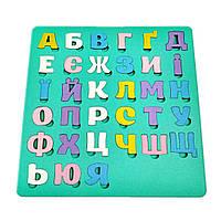 Сортер - алфавит на мятном фоне