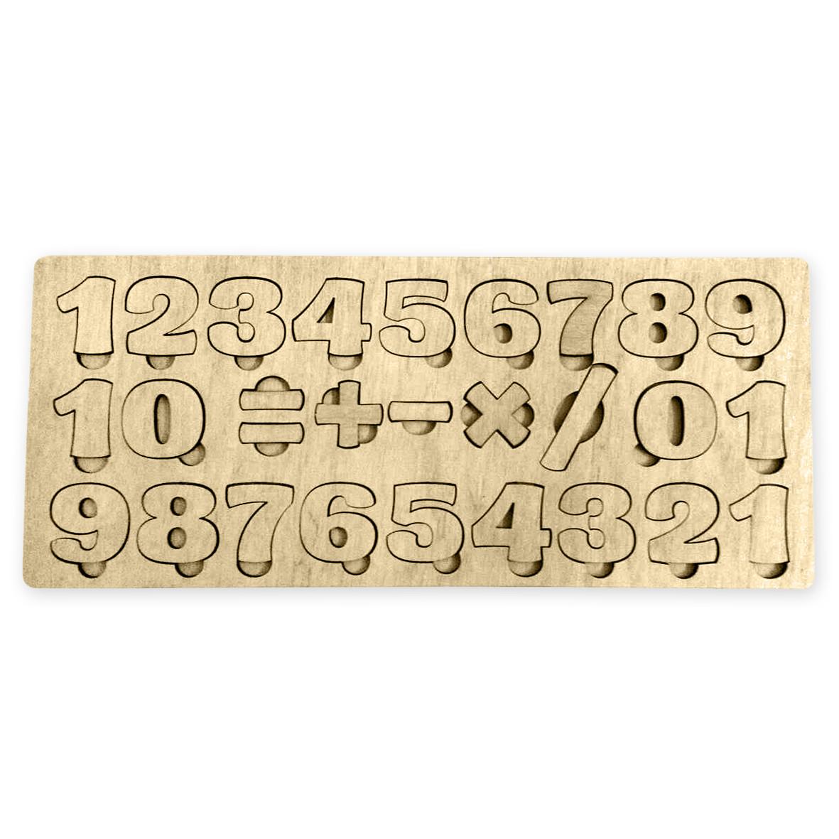 Деревянный сортер с цифрами (без покраски)