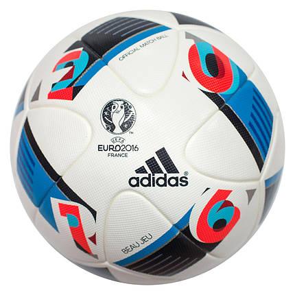 Футбольный мяч Adidas Beau Jeu UEFA Euro 2016 Official Match AC5415 (Оригинал), фото 2