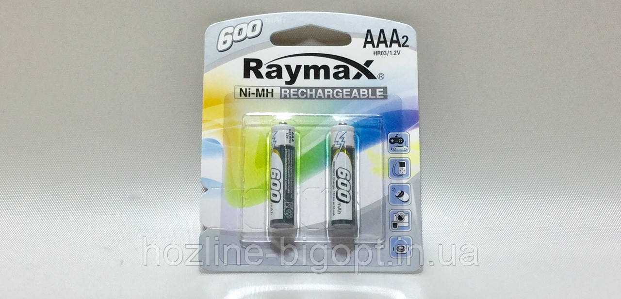 Raymax HR03 1.2 V (AAА) 600 mAh 2 шт.