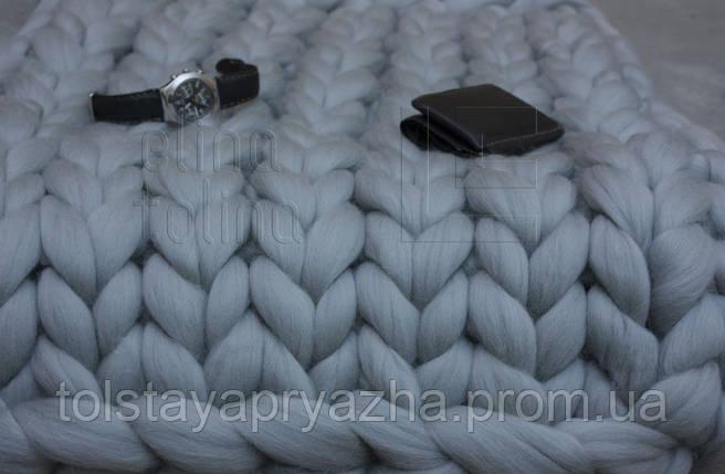 Плед из шерсти (цвет жемчуг) 0,6х1,2 м., фото 2