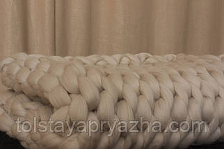 Плед из шерсти  (латте) (0,8х1,2 м), фото 3