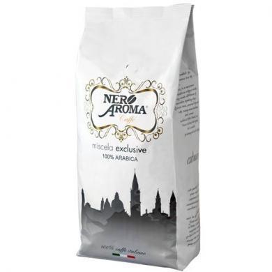 Кави Aroma Nero Exclusive 100 % Арабіка 1 кг Зернової xcoffee