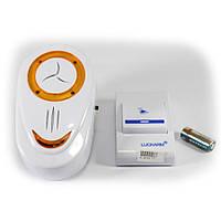 ✅ Беспроводной дверной звонок Intelligent Luckarm, цвет - бело-оранжевый, с доставкой по Киеву и Украине | 🎁%🚚