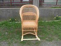 """Плетеное кресло-качалка из лозы """"Простое"""""""