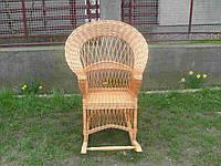 Плетеное кресло-качалка из лозы капля