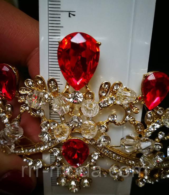Короны с красными камнями оптом.