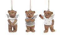 Декоративная статуэтка-подвеска Мишки-ангелочки 8см, 6шт.