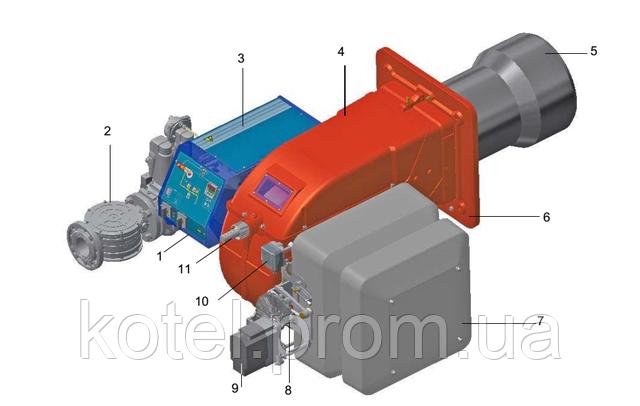 Схема газовых модуляционных горелок Unigas Novanta R92A