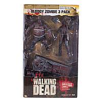 McFarlane The Walking Dead Bloody Zombie 3 pack, Ходячі мерці 3 зомбі пак, Ходячие мертвецы зомби пак, фото 1
