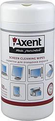 Салфетки для очистки экранов  Axent 5302-A 100шт в тубе