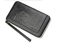 Женский кошелек PIDANLU Phoenix Wallet кожаное портмоне с ремешком Черный (SUN1342), фото 1