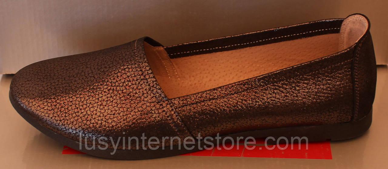 Балетки женские кожаные графит от производителя модель РУ212-3-2