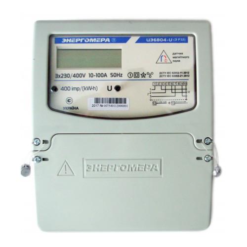 Электросчетчик трехфазный Энергомера ЦЭ6804-U/1 220В 5-60А ЭР32