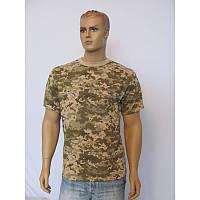 Футболка мужская К-01053, камуфляж, пиксель, военная, кулир, хлопок, Bifabric