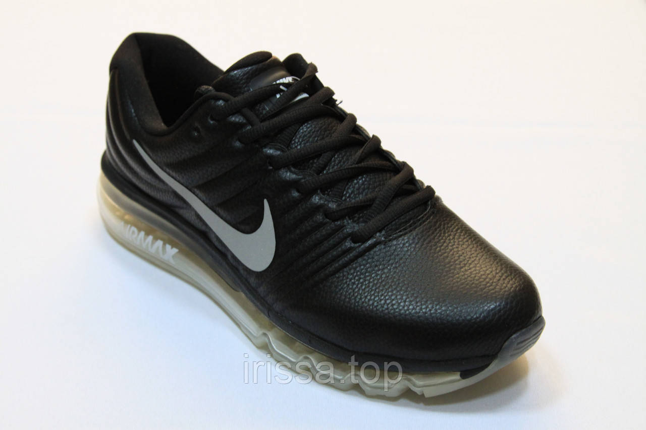 b21d517c Кроссовки Nike Air Max 2017 кожа (черный/серый): продажа, цена в ...