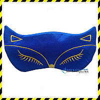 Маска для сна Silenta Cat (креп-сатин), blue, фото 1