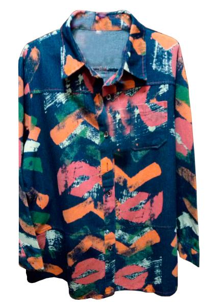 Джинсовый пиджак-рубашка