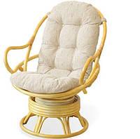 Кресло вращающееся 05/01 натуральный ротанг