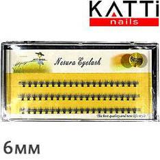 KATTi Ресницы пучки накладные в коробке Nesura Eyelash пл оранж черн упаковка кор 6мм