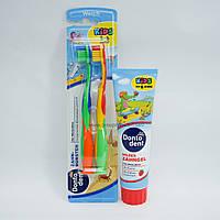 DONTODENT kids - набор детская зубная паста + 2 зубные щетки