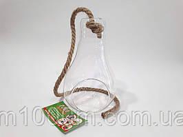 Декорация стеклянная подвесная лампочка, Н18,5см, 18205
