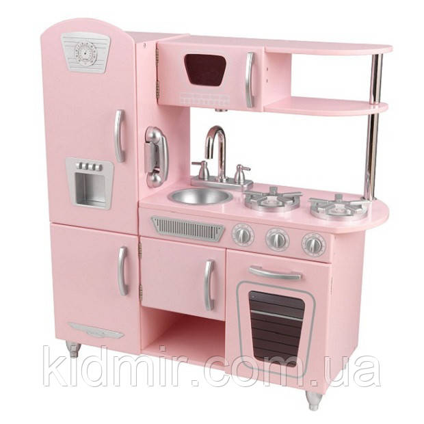2c302b6c8fb4 Кухня детская Винтаж розовая KidKraft 53179 -