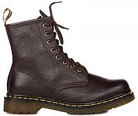 """Женские ботинки Dr. Martens 1460 Brown Smooth """"VEGAN"""" (Доктор Мартинс) коричневые"""