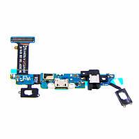 Шлейф для SAMSUNG G920 Galaxy S6 с разъёмом micro-USB, гарнитуры, микрофоном (ID:10815)