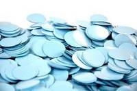 Конфетті кружечки блакитні 2,3 см 50 г/упак. поліпропілен