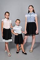Детская блуза школьная