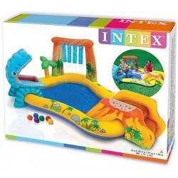 Водный надувной игровой центр 57444Intex Dinosaur Play Center 249x191x109 см