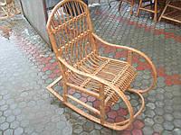 Качалка из лозы плетеное кресло