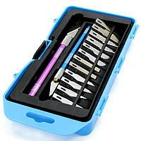 Набор скальпелей WLXY WL-9312AB (нож d=8mm с лезвиями №4 - 2шт, №11 - 4шт; нож d=10mm с лезвиями...(ID:11957)