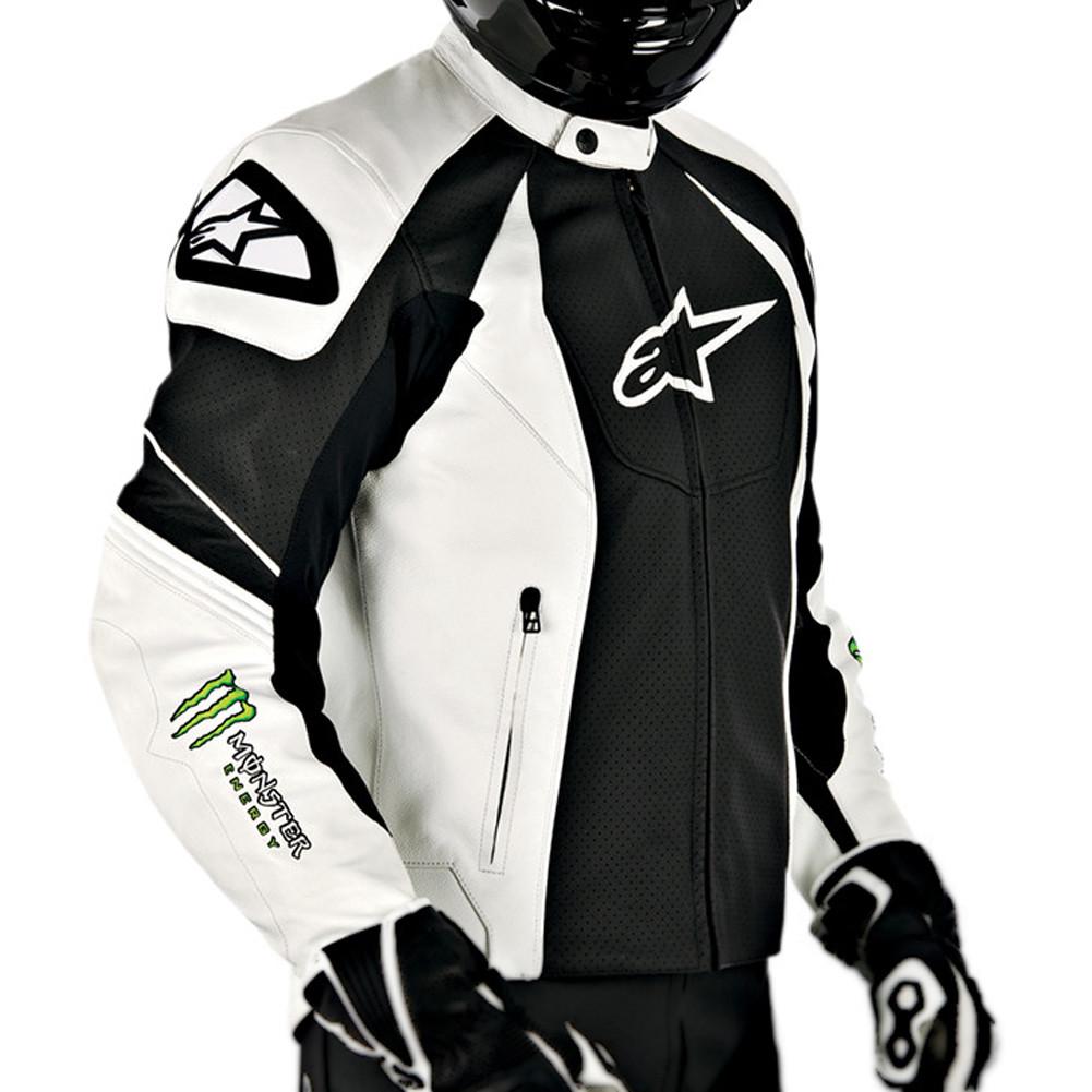 "Куртка Alpinestars GP-M кожа black\white\green ""54"""