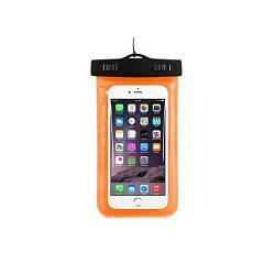 Чехол для телефона водонепроницаемый 10,5x17см MHZ C25224 оранжевый