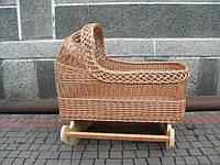 Плетеная кроватка для малыша, колыбель из лозы