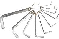 Ключи шестигранные 1.5-10 мм, набор 10 шт., TOPEX 35D954